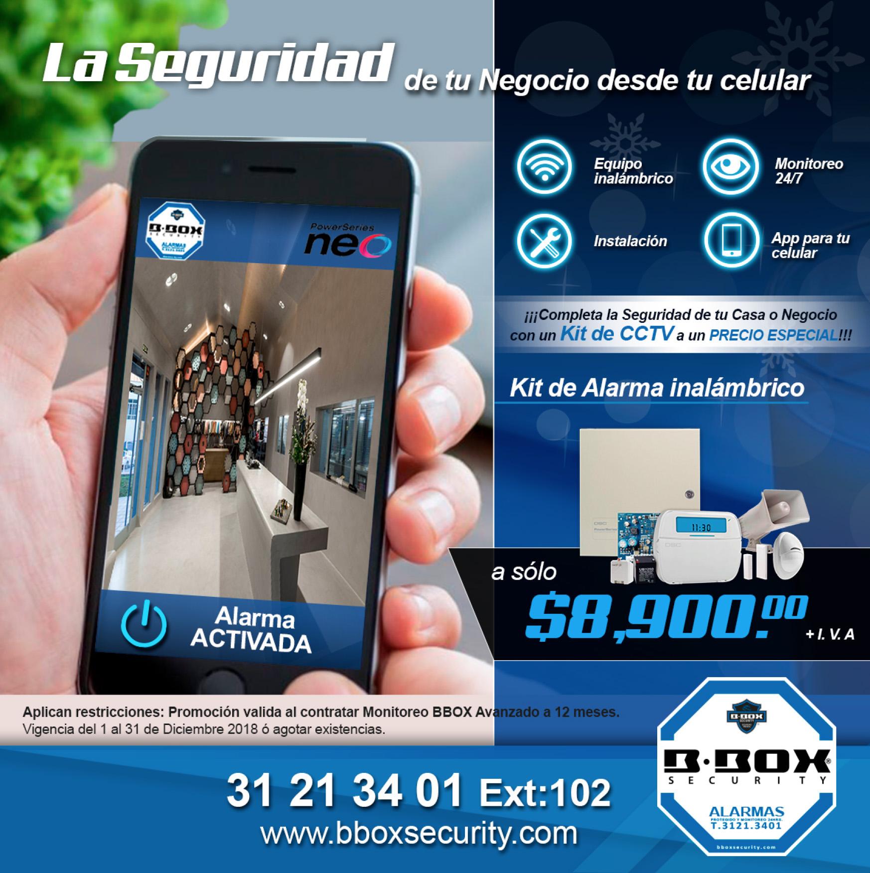 BBOX Security Seguridad monitoreo de alarma promocion kit a - Servicio de Monitoro de Alarma en Guadalajara | BBOX Security