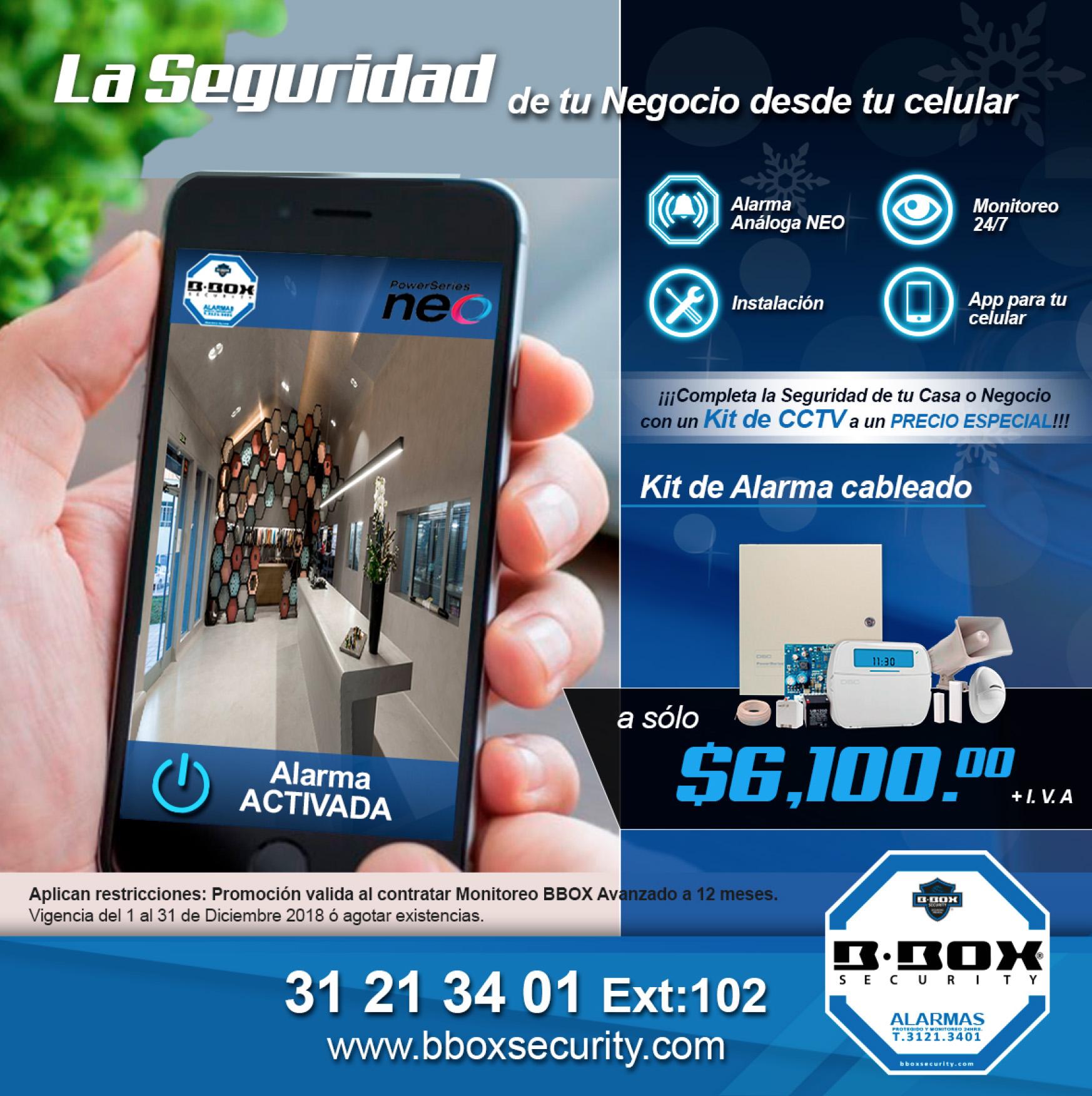 BBOX Security Seguridad monitoreo de alarma promocion kit c - Servicio de Monitoro de Alarma en Guadalajara | BBOX Security